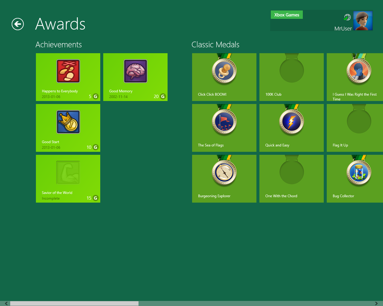 Minesweeper achievements