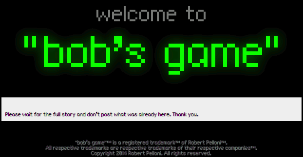 Robert Pelloni releases and retracts background on bob's game development