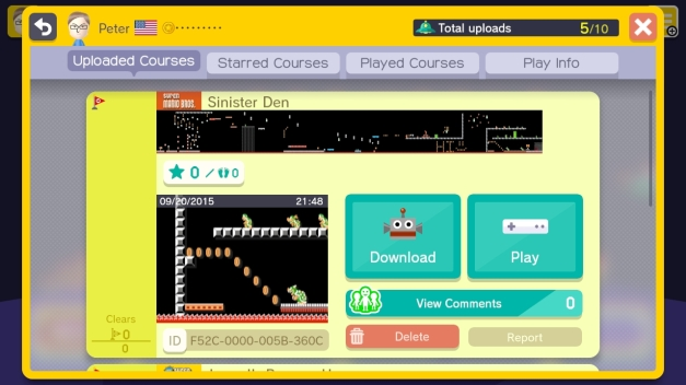 Super Mario Maker Sinister Den