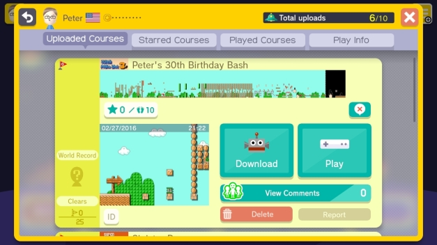 Super Mario Maker: Peter's 30th Birthday Bash
